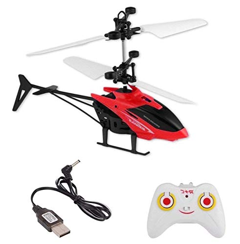 Toyzee Exceed Induction Flight Electronic Radio RC Remote Control Toy Charging Helicopter Toys with 3D Light Toys for Boys Kids (Indoor Flying) Colours as per Stock ( Small Size )