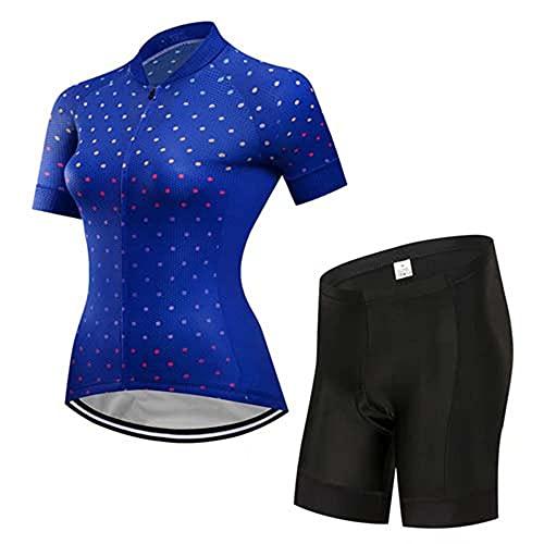 HXTSWGS Ropa Ciclismo Mujer Verano,Mountain Bike Jersey Camisetas Manga Corta Carreras Ropa de Puerta Sport MTB Ropa Verano