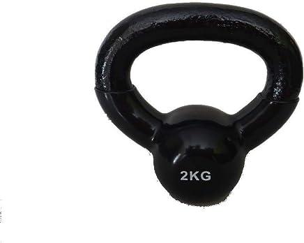 Pro Solid Vinyl Kettle Bell 2 Kg. - Black