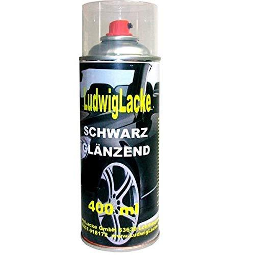 Schwarz glänzend 1 Spraydose AUTOLACK 400ml Made in Germany