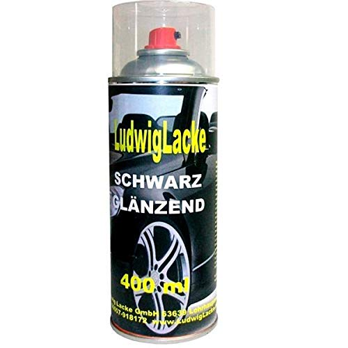 Schwarz glänzend 1 Spraydose AUTOLACK 400ml Made in Germany