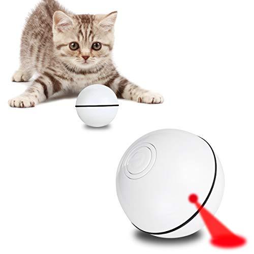 AceLife Katzenspielzeug Ball mit LED Licht, Elektrisch Katzen Spielzeug Ball Automatischer Rollender Katzen Ball Interaktives Spielzeug für Katzen