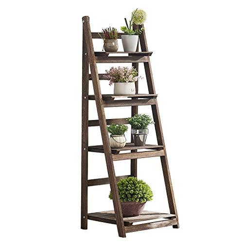 RHF 44' Foldable Plant Shelf,Plant Stand,Indoor Flower Pot Holder,Flower Pot Ladder,Folding A Frame...