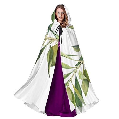 WYYWCY Oliven Grün Cartoon Mantel Kapuze Für Männer Kind Kapuzenmantel 59 Zoll Für Weihnachten Halloween Cosplay Kostüme