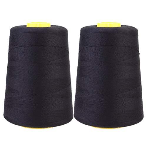 Hakka 2 Stück Nähgarnspule Polyesterfaden Nähschnur zum Nähen von Quiltmaschinen DIY Bastelkleidung 2000 Yards