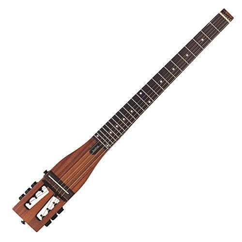 Anygig AGSSE Tragbare Gitarre für Reisen, volle Länge links, 6 Saiten, Braun