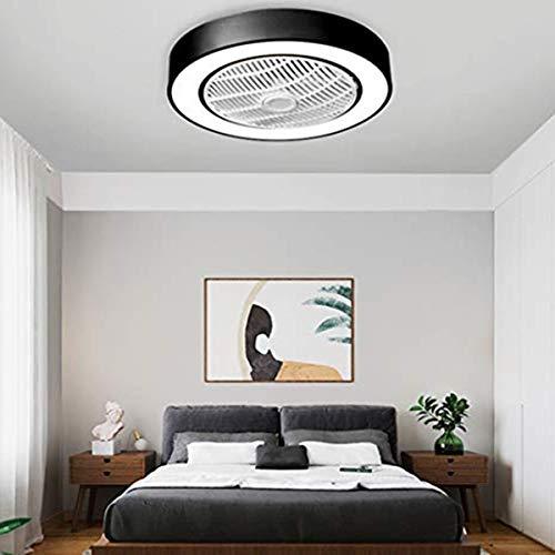 MAZ Ventilador de Techo con Iluminación Led Ventilador de Techo Luz, Regulable con Mando a Distancia, la Velocidad Del Viento Ajustable, 36W Creativo Moderno Ultra Silencioso Ventilador de la Sala de