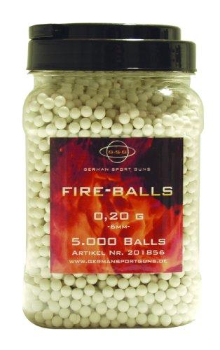 GSG Softair BB's 0.20 g Firebullets 5.000 ST. Kanister, Weiß, 6 mm, 201856
