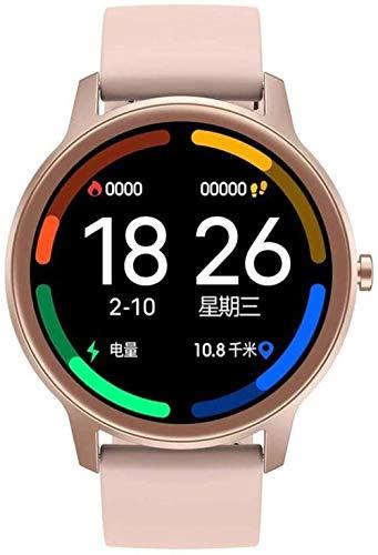 Reloj inteligente para mujer Ip67, impermeable, monitor de ritmo cardíaco, presión arterial, oxígeno y fitness, reloj inteligente deportivo para hombres y mujeres, acero dorado, silicona y oro