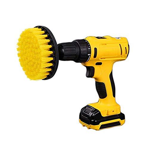 Kingbra Cepillo para taladro eléctrico de 5 pulgadas, accesorio de taladro de limpieza de dureza media, cepillo de limpieza para limpiar superficies de baño, azulejos y lechada