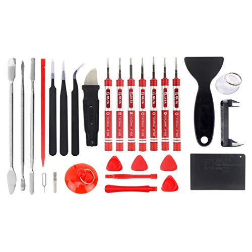 MacBook And More IPhone JF-8175 28 In 1 Electronics Repair Tool Kit With Portable Bag For Repair Cell Phone Accessories Change Parts Replaced Any Time