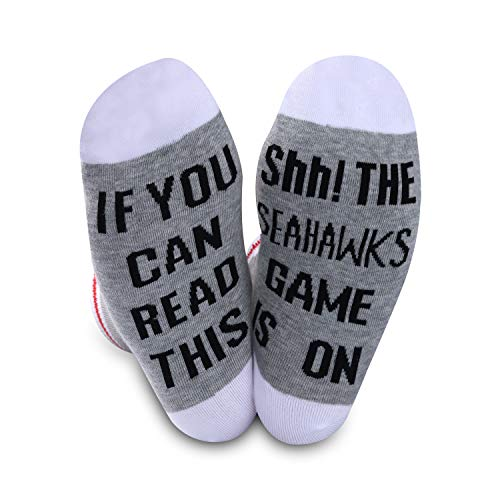 Seattle-Seahawks-Socken, Geschenk, American Football, lustiges Geburtstagsgeschenk, ausgefallene Football-Socken Gr. M, Seahawks