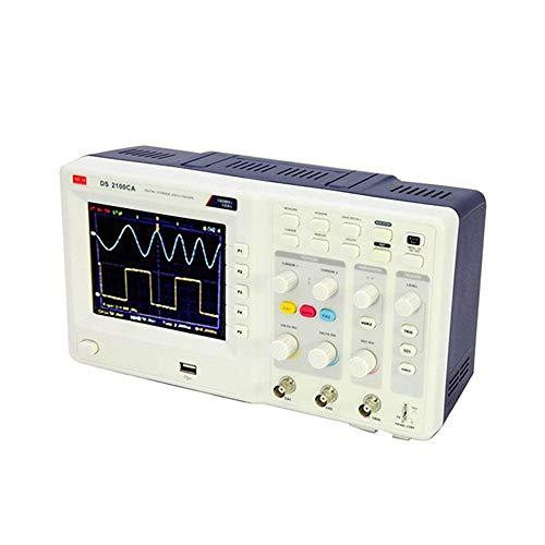 NO BRAND Osciloscopio Digital Osciloscopio Digital portátil de 2 Canales 100 MHz 1 GS/a osciloscopio Osciloscopios de Mano osciloscopio USB (Color : Blanco, tamaño : 220v)