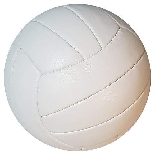 scherenkauf Original Volleyball Nr. 4 mit handgenähtem Echtleder in Weiss (Ledervolleyball)