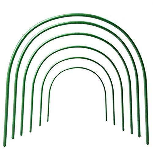Toyfun Gartentore, Gartentunnel, Spannreifen, für Rankpflanzen, grün, 6er-Set