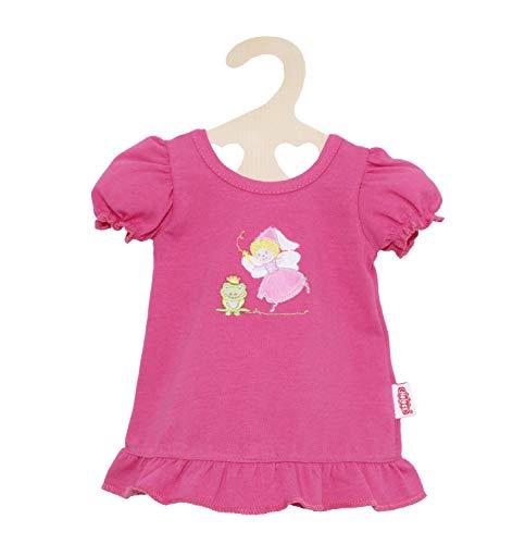 Heless 2265 - Nachthemd für Puppen, mit Fee und Frosch Motiv, in Pink, Größe 35 - 45cm