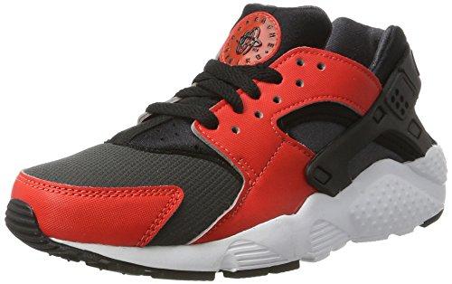 Nike Huarache Run GS, Sandalias con Plataforma Los niños y Adolescentes, Multicolor (MAX Orange/Black-Black-Anthracite), 40 EU