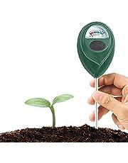 Jordtestare, fuktmätare för jord, växttestare, jordtestare för fukt/solljus, PH-testare för trädgård, gräsmatta, inomhus och utomhus, hög noggrannhet
