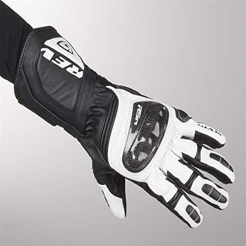 Revit Guantes de moto de verano, guantes RSR 3, color blanco y negro, talla XXL