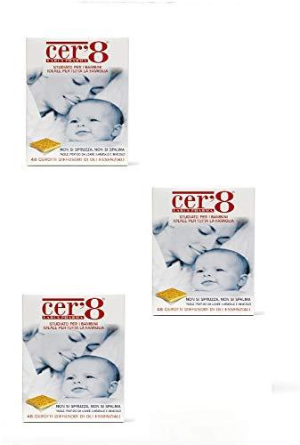 Cer'8 Cerotti Diffusori di Oli Essenziali Puri Micro Incapsulati di Citronella e Eucalyptus Citriodora | 3 CONFEZIONI