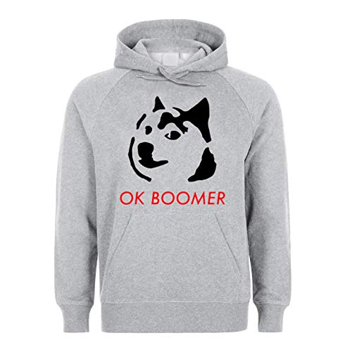 KRISSY Ok Boomer Doge Dog Unisex Sweatshirt Hoodie Pullover XX-Large