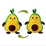 Double-Sided Folding Plush Toy, Lovely Vivid Expression Mini Plush Doll, Double-Sided Flip Doll, Double-Sided Avocado Plush Toy, Plush Toy Can Be Used for Bedding, Living Room Decoration, Bedroom