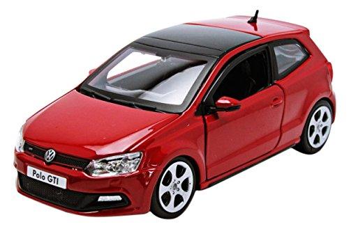 Bburago 2010 VW Polo 5 GTI 21059, Rojo, 1:24 Die Cast