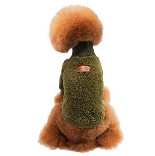 CHEMYAO Kleding voor huisdieren/hondenmantel voor, Huisdier Coltrui Koraal Fluwelen Warme Kleding, Schattige Effen Kleur Kleine En Middelgrote Hondenjassen In Herfst En Winter -4 Kleuren