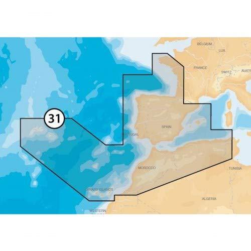 Navionics Platinum+ Seekarte (Large/XL3) Region Europa, Medium SD/microSD-Karte, Abdeckungsbereich 31P+ - Iberische Halbinsel