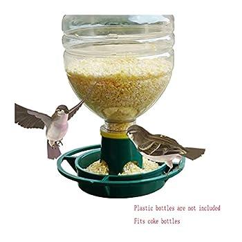 XNBZJ Oiseaux GRATINGER GRAINES GRAINES DE Disque Disque DISTOIL en Plastique DE Filet AUGUT Automatique Étanche Attirez L'appareil Sparrow Dispositif (Color : Green, Size : Birds Feeding)