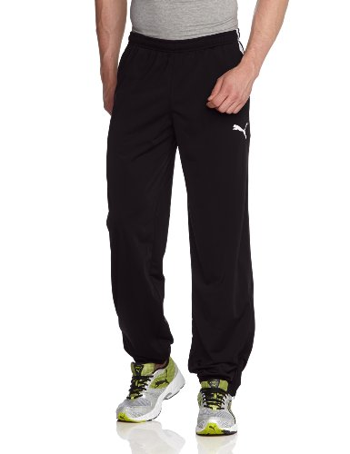 PUMA Herren Hose Spirit Pants with Zipped Leg Opening, Black-White, XL, 654041 03