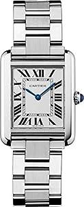 Cartier Women's W5200013 'Tank Solo' Stainless Steel Dress Watch image