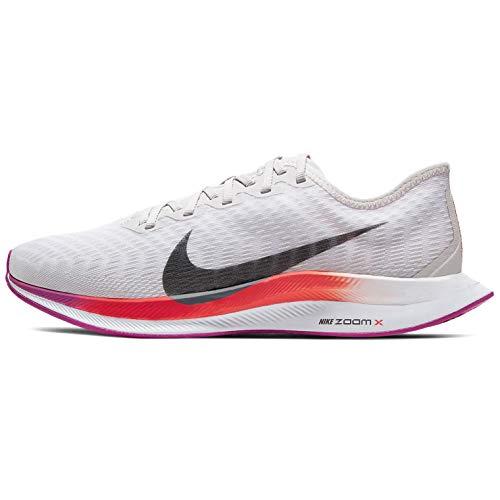 Nike Mujeres Zoom Pegasus Turbo 2 Mujeres Zapatillas de correr At8242-009, Gris (Gran gris/gris humo-blanco-rosa fuego), 37 EU