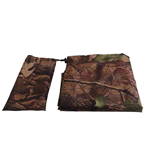 Bâche de Tente étanche, Couverture de Tente de Camouflage auvent auvent Housse de Pluie abri Solaire pour Camping randonnée pêche(3 x 2.9m)