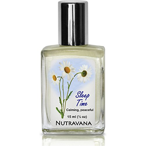 Sleep Time -Natural Sleep Aid For Adults, Kids -Therapeutic Herbal Remedy By Nutravana To Calm Relax Rest Recover Aromatherapy Essential Oil Roll-On Synergy Blend Lavender Chamomile Neroli Oils 15Ml