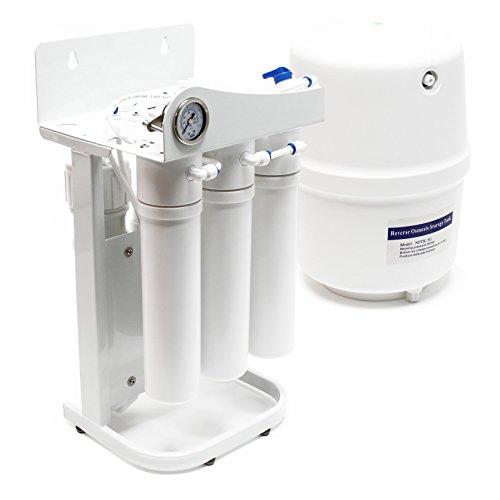 Naturewater 5 Stufen Umkehrosmose RO 180 L/Tag NW-RO50-G1 mit Rahmen und Druckanzeige