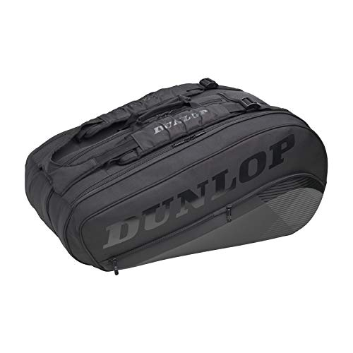 Dunlop Sports Unisex-Erwachsene 2021 CX-Performance 8-Racket Thermo Tennistasche, schwarz/schwarz, 8-Pack