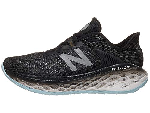 New Balance Women's Fresh Foam More V2 Running Shoe, Black/Outerspace, 8 D-Wide