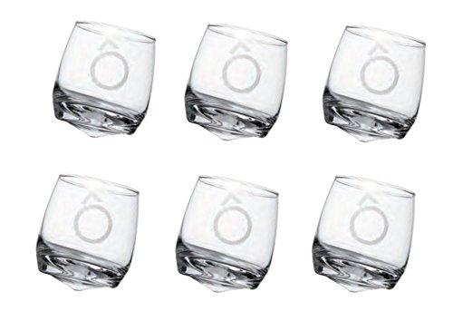 Sema 98502Ô Set di 6Bicchieri Culbuto in Vetro Trasparente, 25x 8x 10cm
