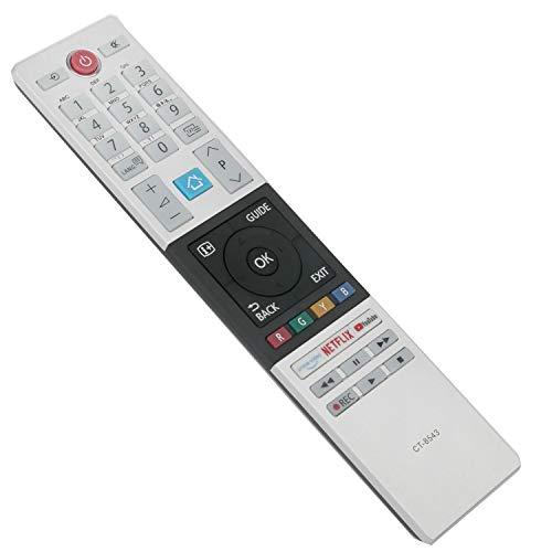 CT-8543 Ersatz Fernbedienung - VINABTY CT8543 Fernbedienung für Toshiba Smart TV 32W2863DG 32W2863DA 40L2863DG 43V5863DG 43B6863DG 49L2863DG 49U6863DG 49V5863DG 55V5863DG 55U7863DA mit NetFlix Youtube