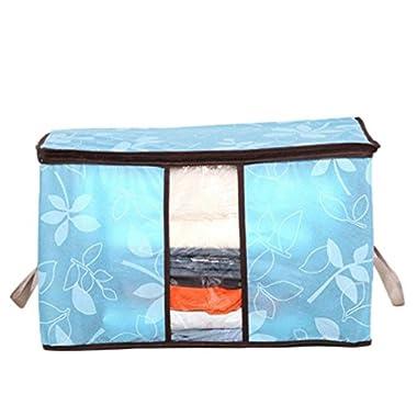 Storage Bag ,IEason Clearance Sale! Storage Organization/Designer Flower Printed Quilt Storage Bags (Blue)