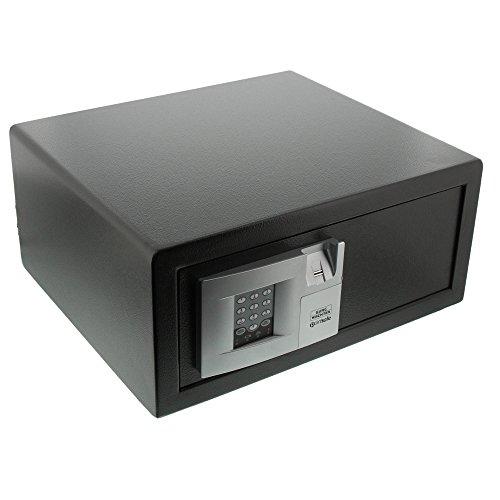 BURG-WÄCHTER Laptoptresor mit elektronischem Zahlenschloss und Fingerscan-Modul, Zur Wandbefestigung, Point P 3 E FS LAP