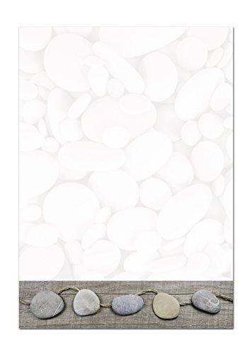 50 Blatt Briefpapier Druckerpapier weiß grau STEINE edel Natur 100g Schreibpapier Motiv-Papier DIN A4 Brief-Bogen Druckerpapier Papier Bastelpapier Design-Papier