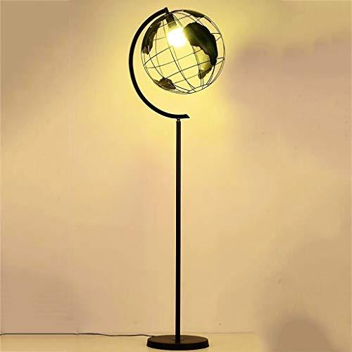 Hohe Globus Stehlampe, Modernen Amerikanischen Stil Wohnzimmer Lese Schlafzimmer Studieren Büro Metall Stehlampe, Einzigartige Erde Hohl Lampenschirm Design Standleuchten