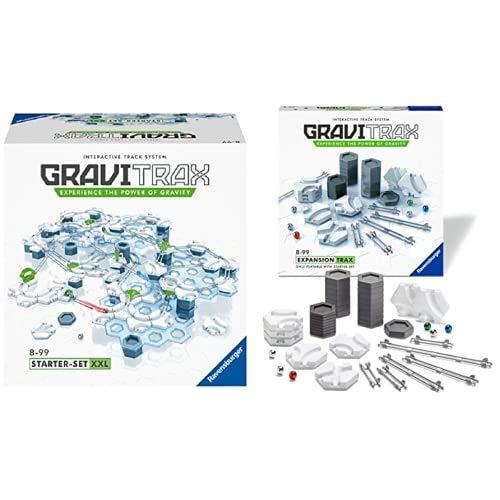 Ravensburger 27615 Gravitrax Starter Set XXL, Gioco Costruzioni STEM, 200 Componenti, ETA Consigliata 8 & Gravitrax Trax, Gioco Logico-Creativo