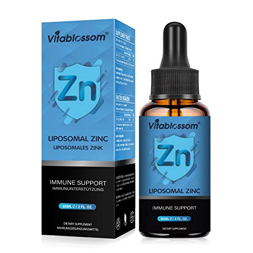 Vitablossom Liposomale Zinkpräparate 60ML - Hohe Absorption, besserer Geschmack | Vegan, gentechnikfrei, glutenfrei