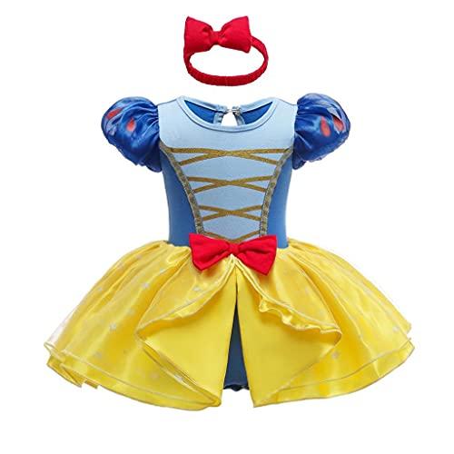 Lito Angels Disfraz de Princesa para Bebé Niñas Body Mono Mamelucos Onesie Vestido de Fiesta Navidad Halloween Cumpleaños con diadema Talla 6 a 9 Meses