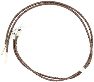 M & F Western Men's Braided With Tips Stampede String (Brown)