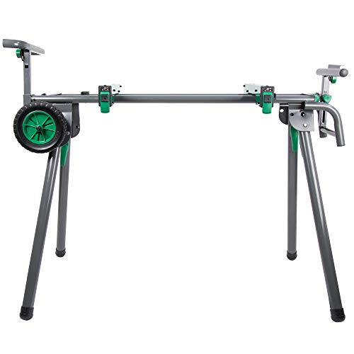 Metabo HPT Miter Saw Stand | Universal, Portable, Quick-release Mounting Brackets | Accepts up to a 12-inch Sliding Miter Saw | Supports up to 400 lbs | UU240F