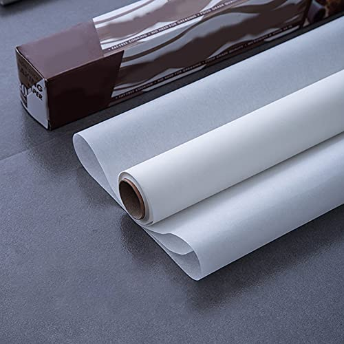 SHARRA Papel pergamino Espesado Rollo de Papel pergamino Papel pergamino Antiadherente Reutilizable para cocinar, Hornear, Separar Alimentos, 30 x 20 cm